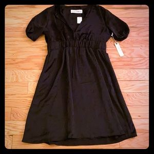 NWT $308 graham and spencer solid black dress